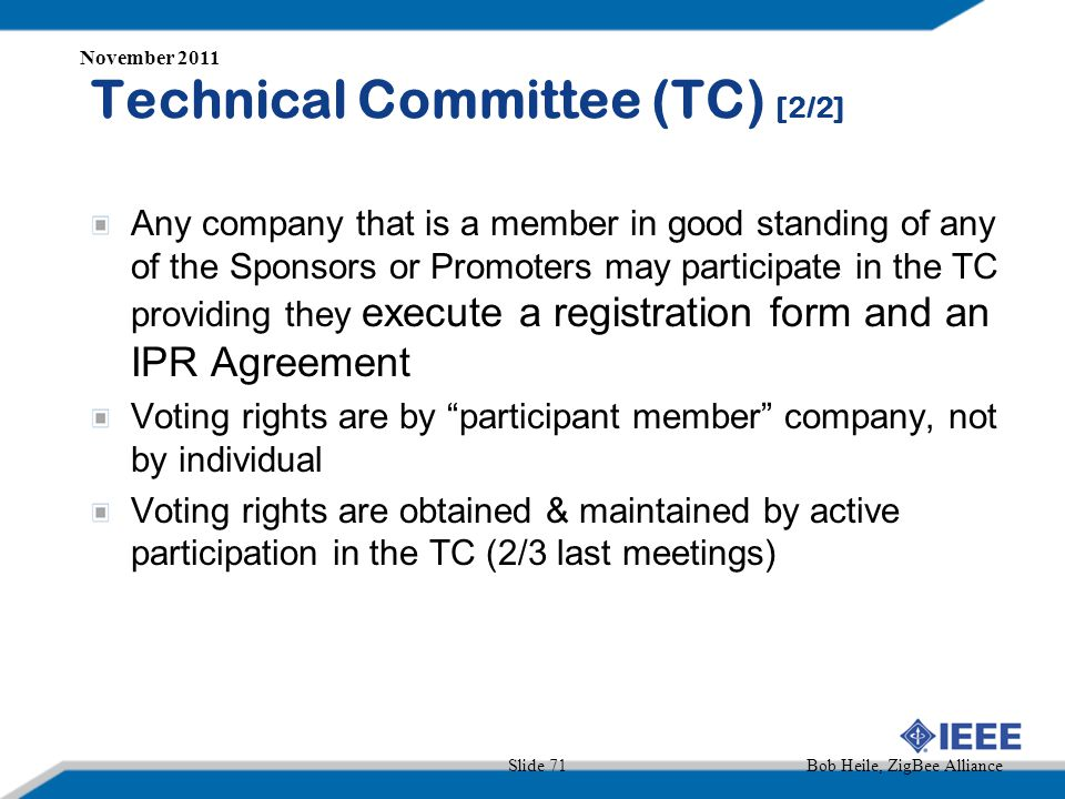 Technical Committee (TC) [2/2]
